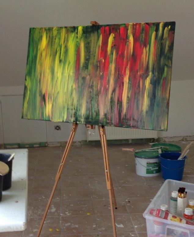 """Kunstwerk """"Abstrakt13"""" von Wladimir Kneib."""