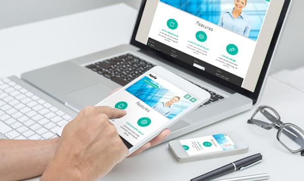 Kostenlose Templates im Responsive Design für Tablets, Laptops und Smartphones.