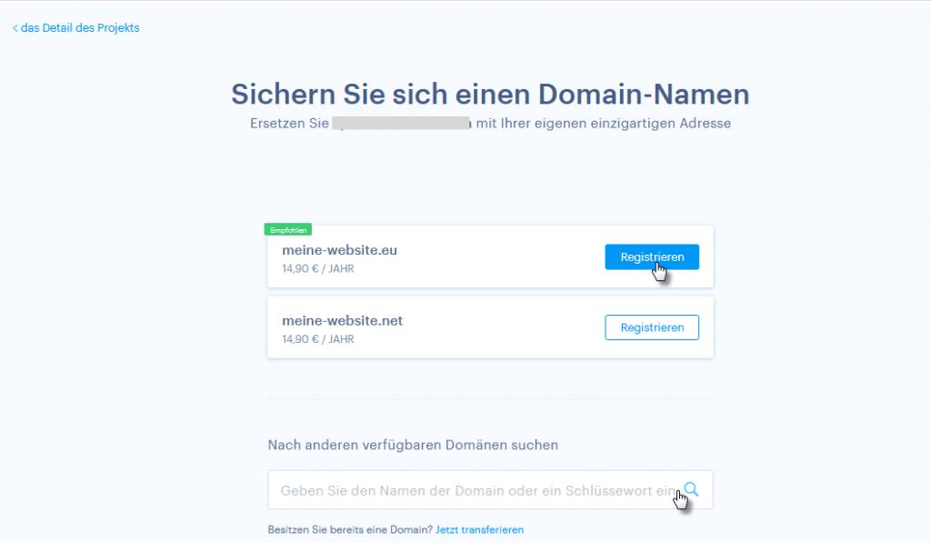 Domain Registrierung