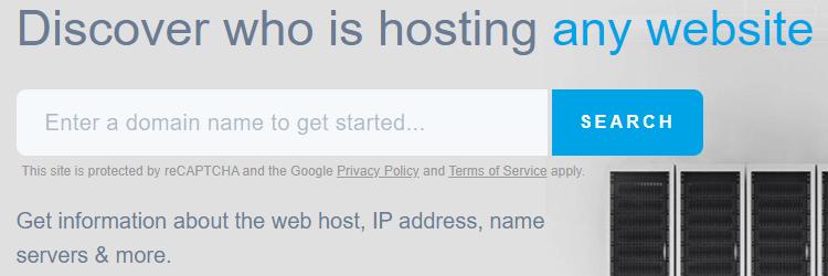 Informationen über Hosting bestimmter Domain finden