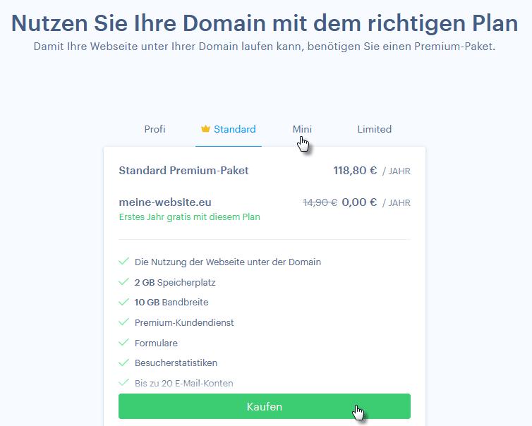 Das passende Paket für die Domain-Registrierung auswählen