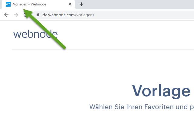 Der Seitentitel in der Browser-Registerkarte
