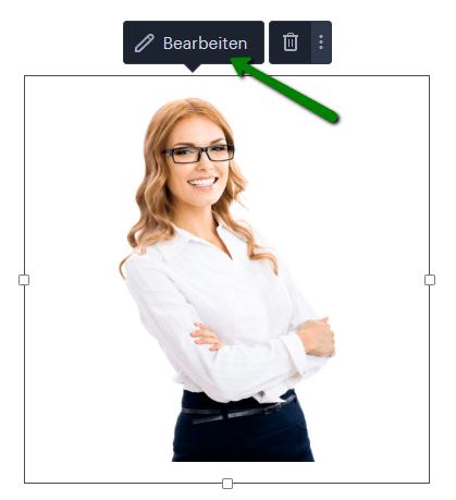 Wie man das Bild im Webnode-Editor bearbeiten kann